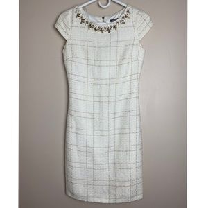 Vince Camuto sz 0 beaded midi-dress